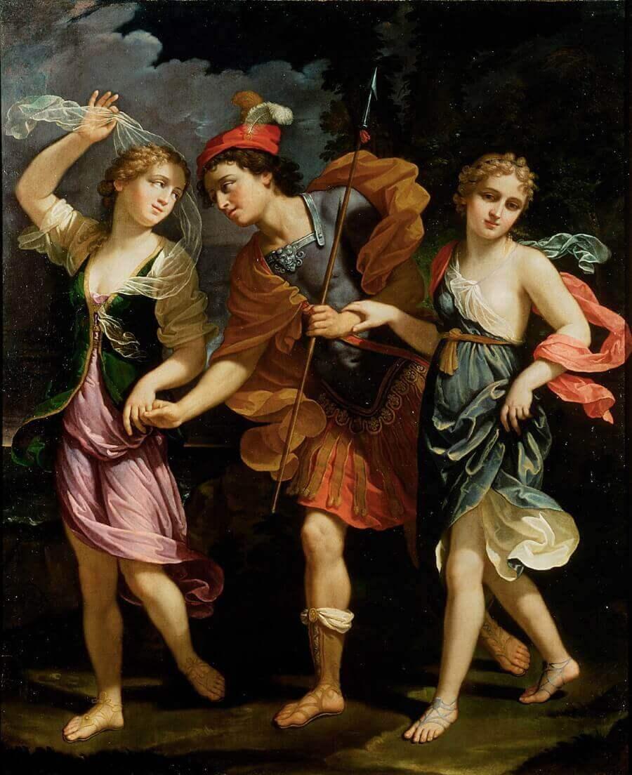 Бенедетто Младший Дженнари – Тесей, Ариадна и Федра, дочери царя Миноса