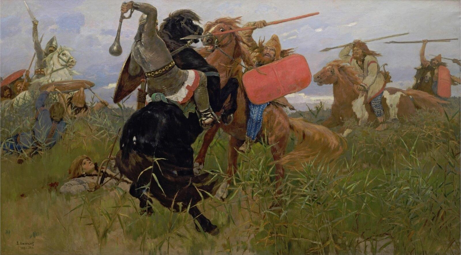 Бой славян со скифами (В. М. Васнецов)