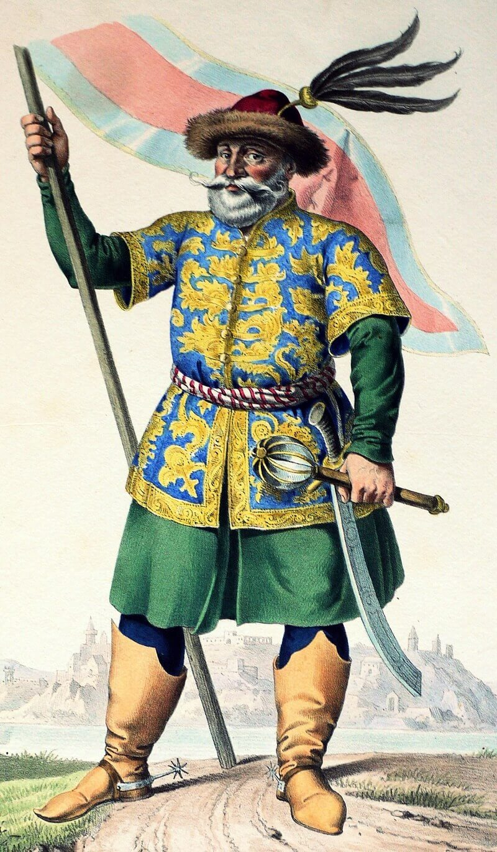 Буда, легендарный венгерский полководец, тезка Будапешта. Литография Josef Kriehuber, ок. 1828 году