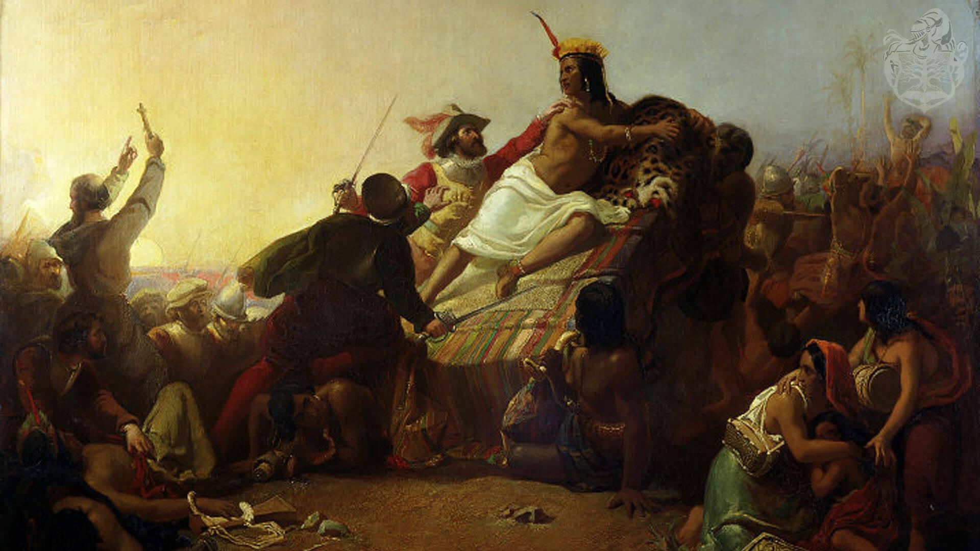 Джон Эверетт Милле. «Писарро берёт в плен правителя перуанских инков». 1845 год