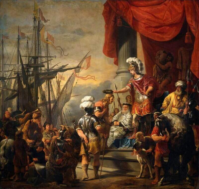 Фердинанд Боль «Эней при дворе Латина»