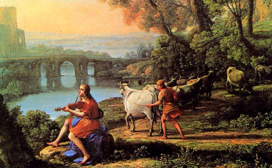 Лоррен Клод – Пейзаж с Аполлоном и Меркурием