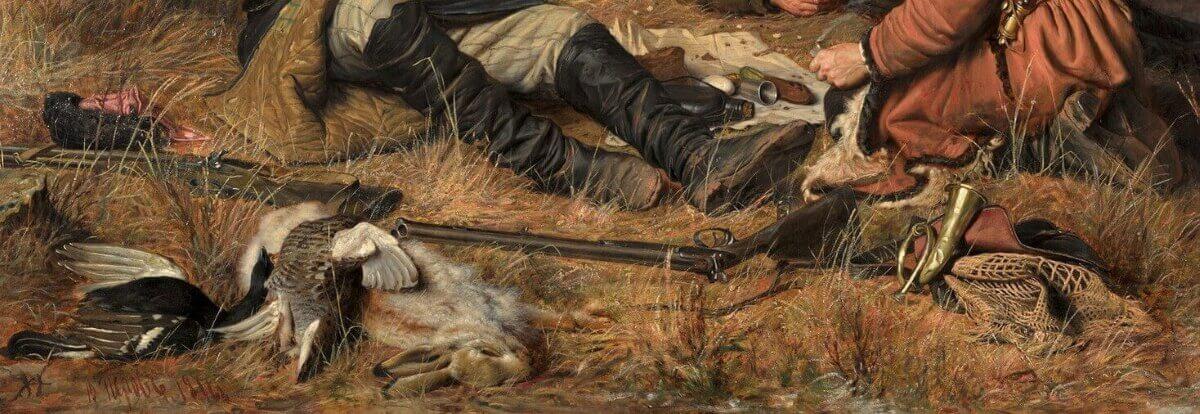 Фрагмент картины Перова «Охотники на привале»