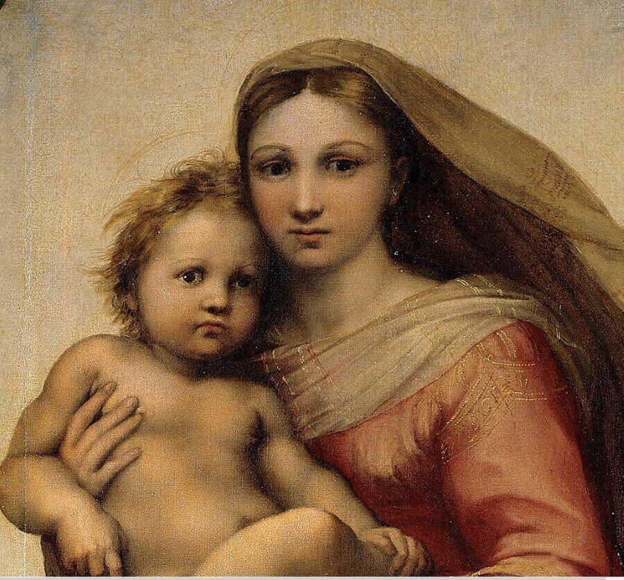 Фрагмент картины «Сикстинская мадонна»