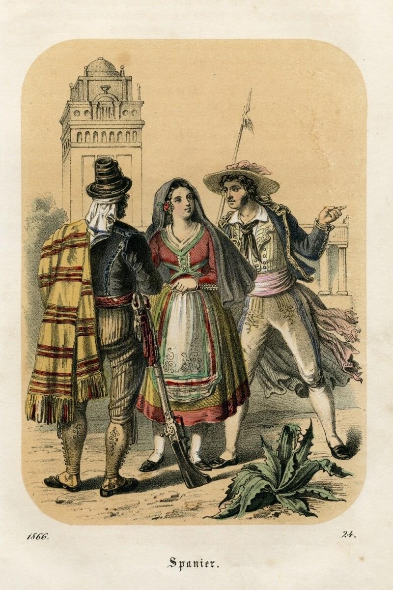 Испанцы литография