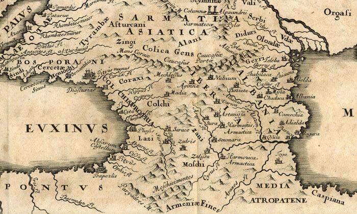 Карта Колхиды и Иберии