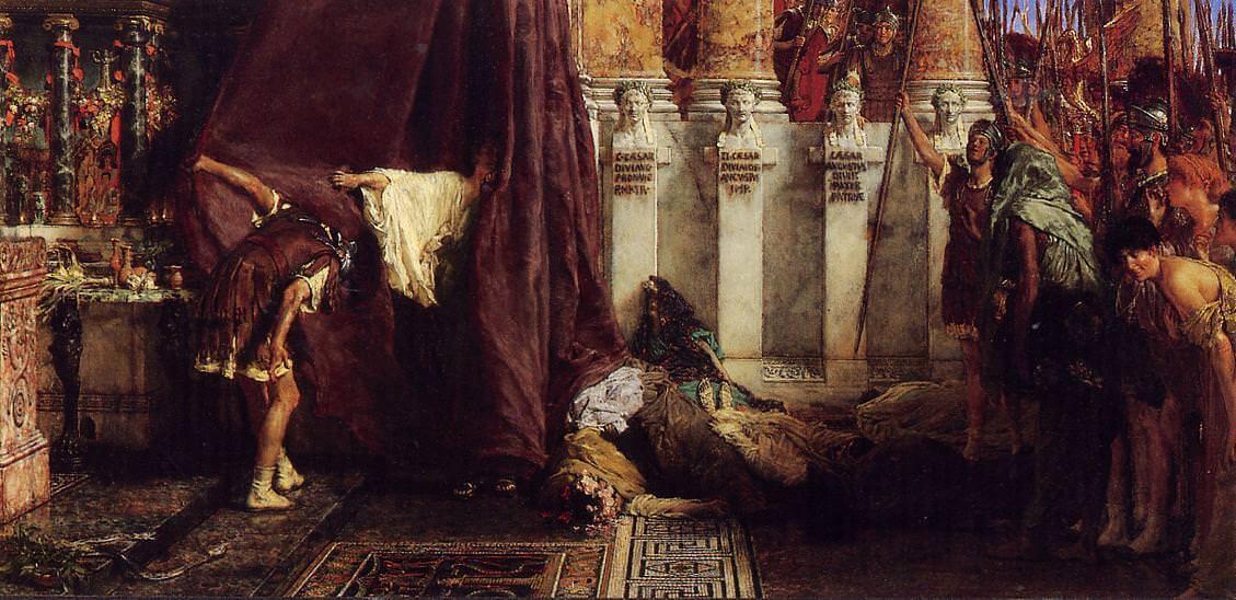 Лоуренс Альма-Тадема «Слава Цезарю! Ура Сатурналии!»