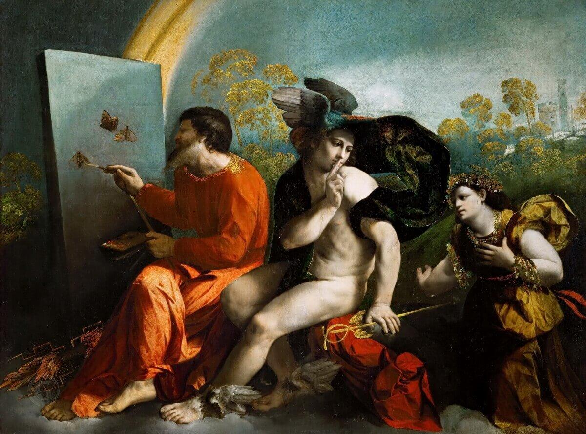 Доссо Досси - Юпитер, Меркурий и Целомудрие
