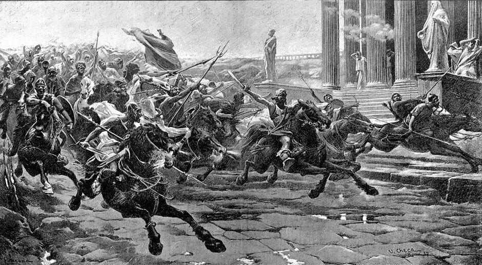 Нашествие варваров или приближение гуннов к Риму
