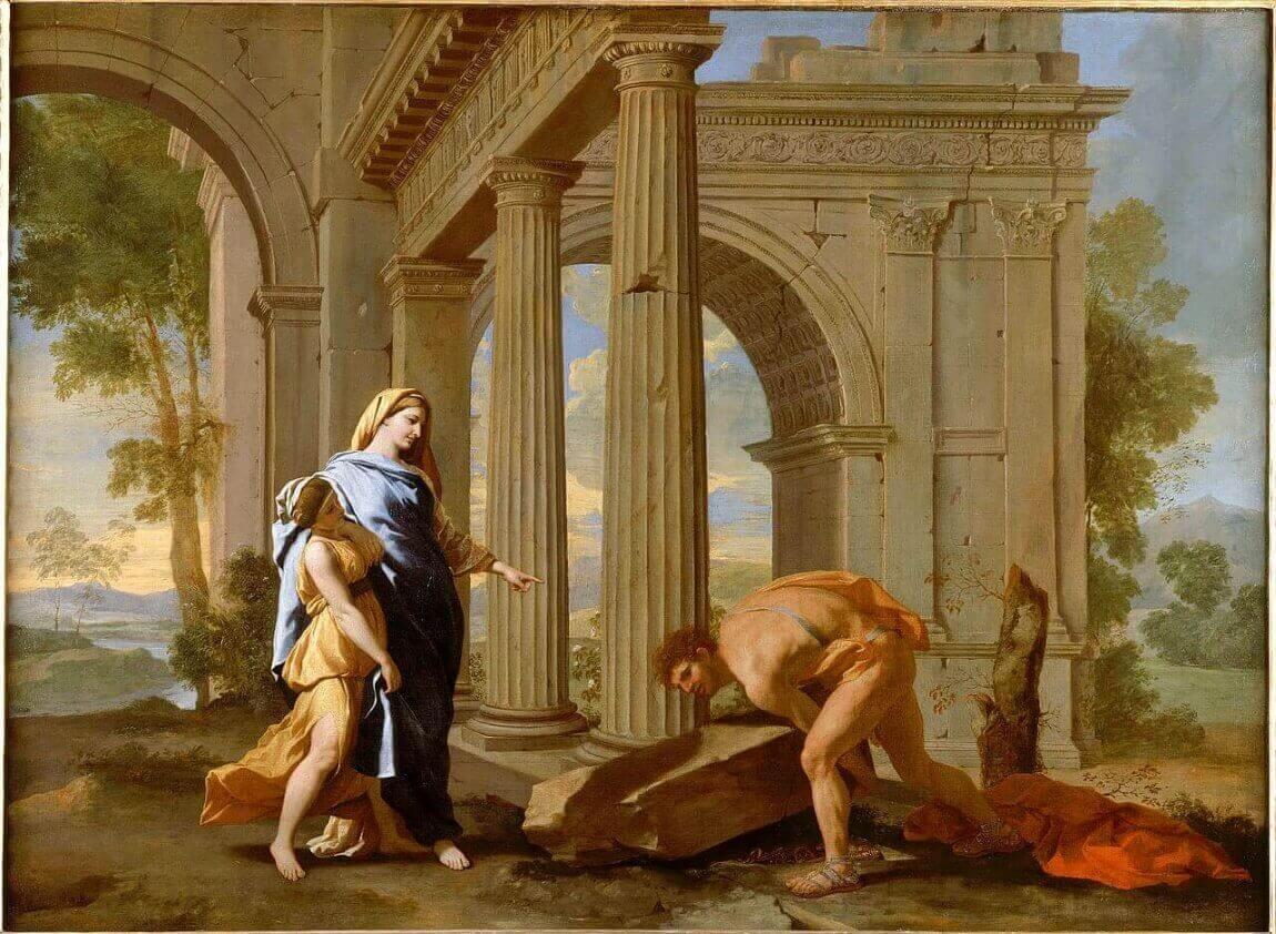 Никола Пуссен. Тесей находит меч своего отца. 1638 год