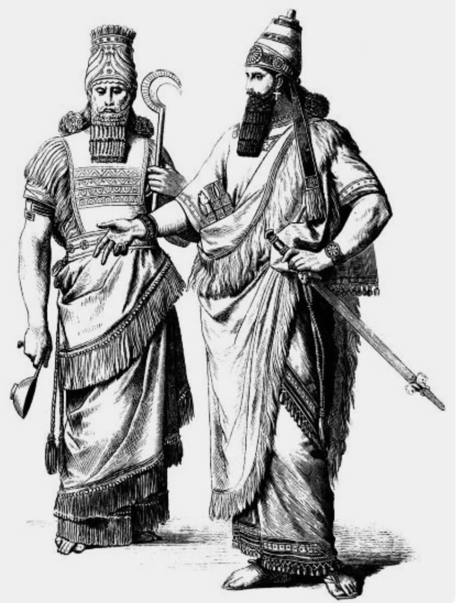 Облачение шумеров жрец и царь