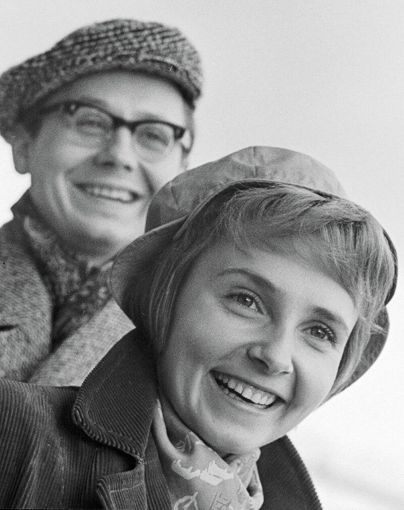 Олег Табаков со своей первой женой Людмилой Крыловой