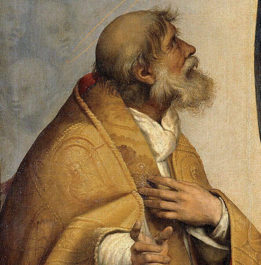Папа Римский, фрагмент картины «Сикстинская мадонна»