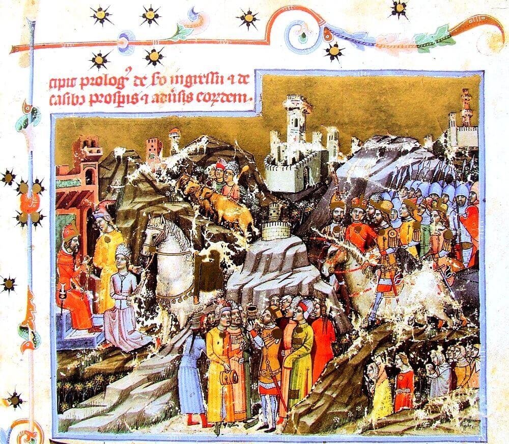Переход мадьяр через Карпаты Летописное Изображение, 1360 Год.