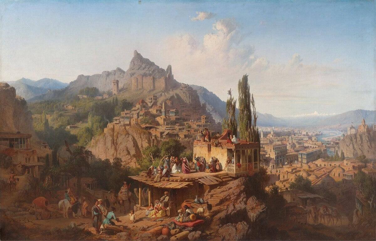 Пол Франкен «Тифлис, 1859 г.», сегодняшний Тбилиси