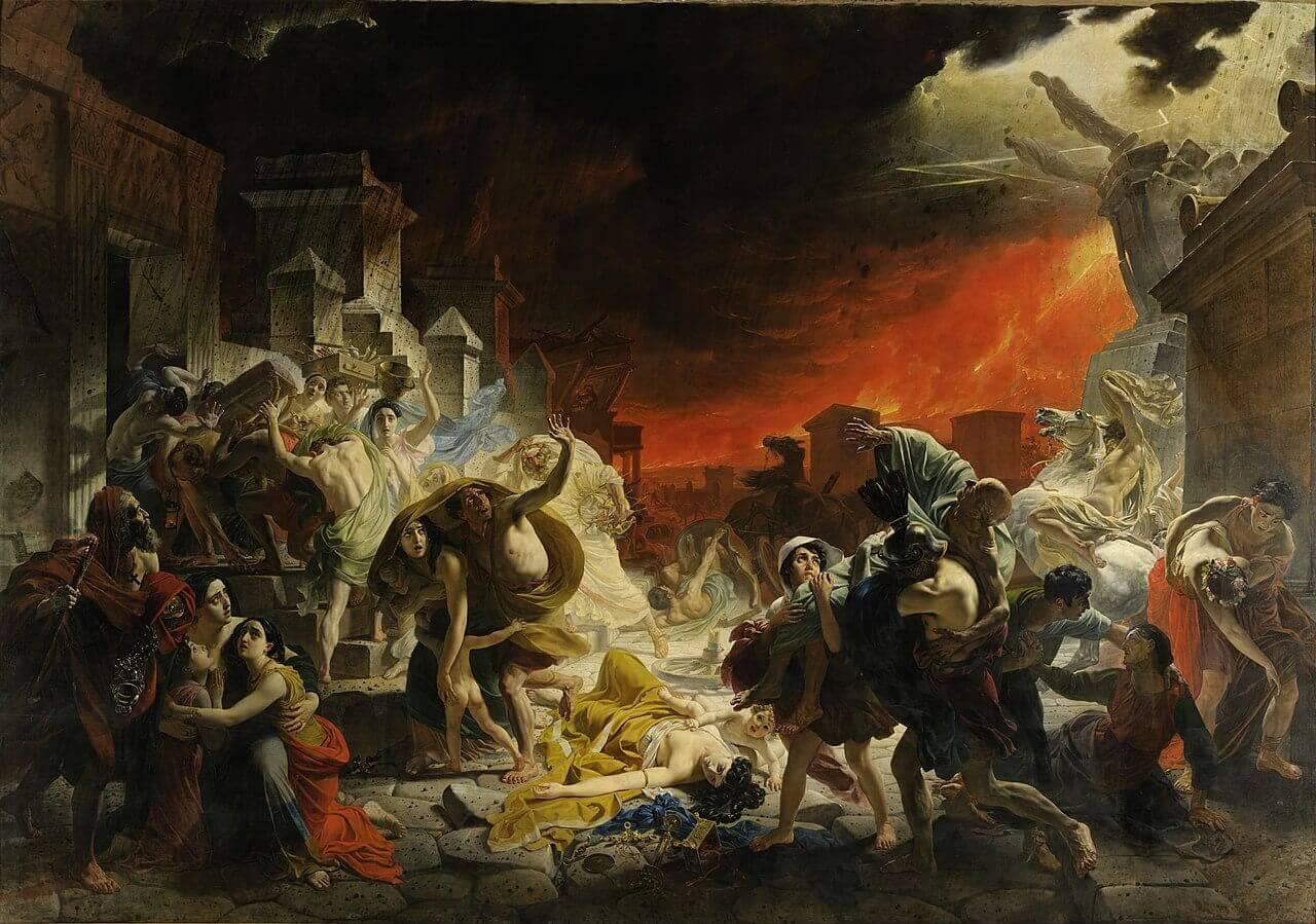 Карл Брюллов «Последний день Помпеи» Местонахождение: Государственный Русский музей, Санкт-Петербург