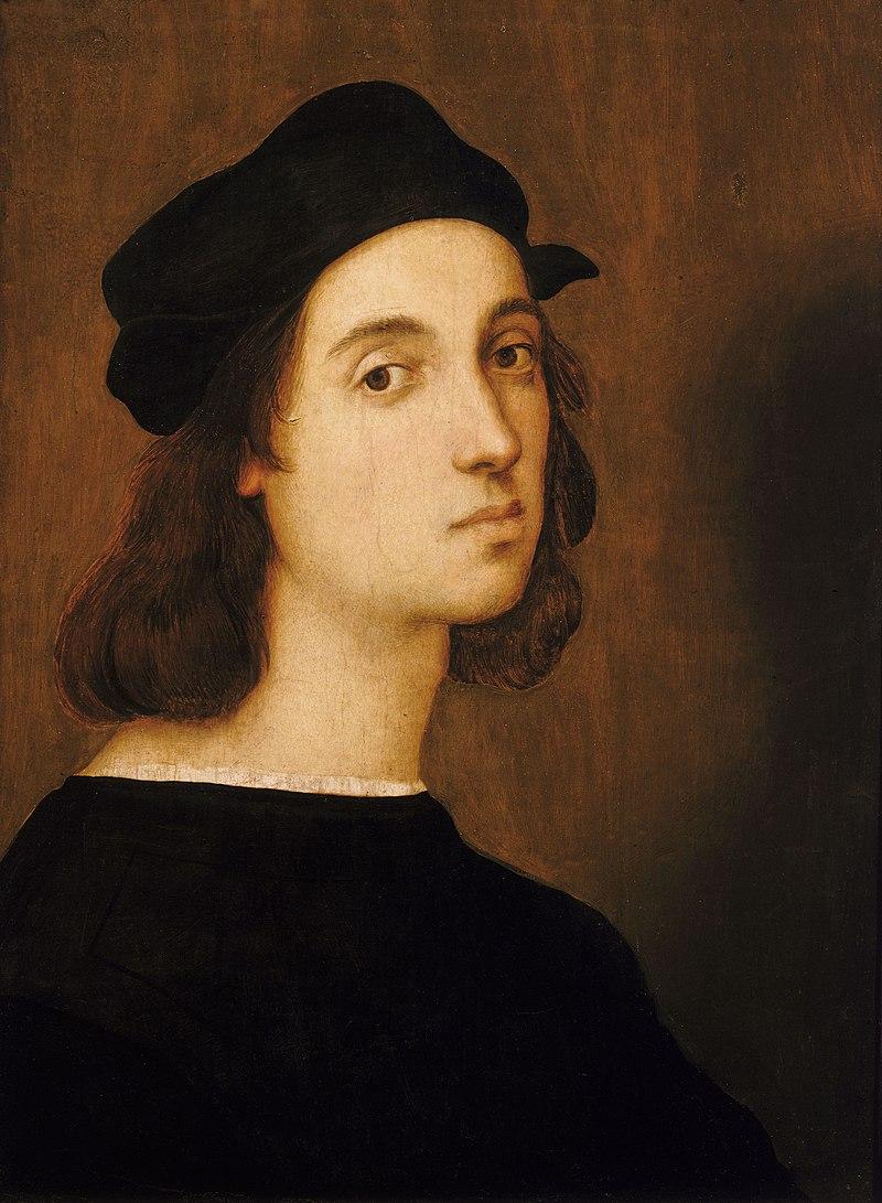 Рафаэль Санти «Автопортрет» (1506). Галерея Уффици, Флоренция