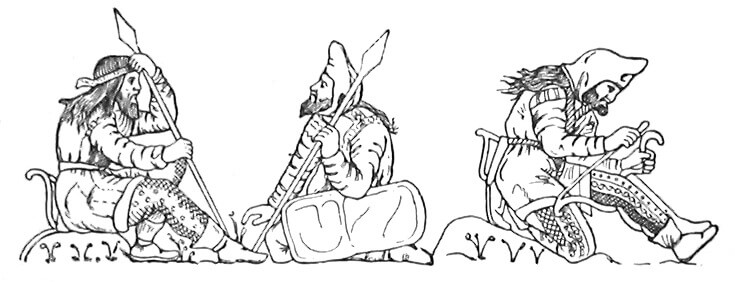Скифские воины. Рельеф чаши из кургана Куль-Оба Место нахождение Эрмитаж
