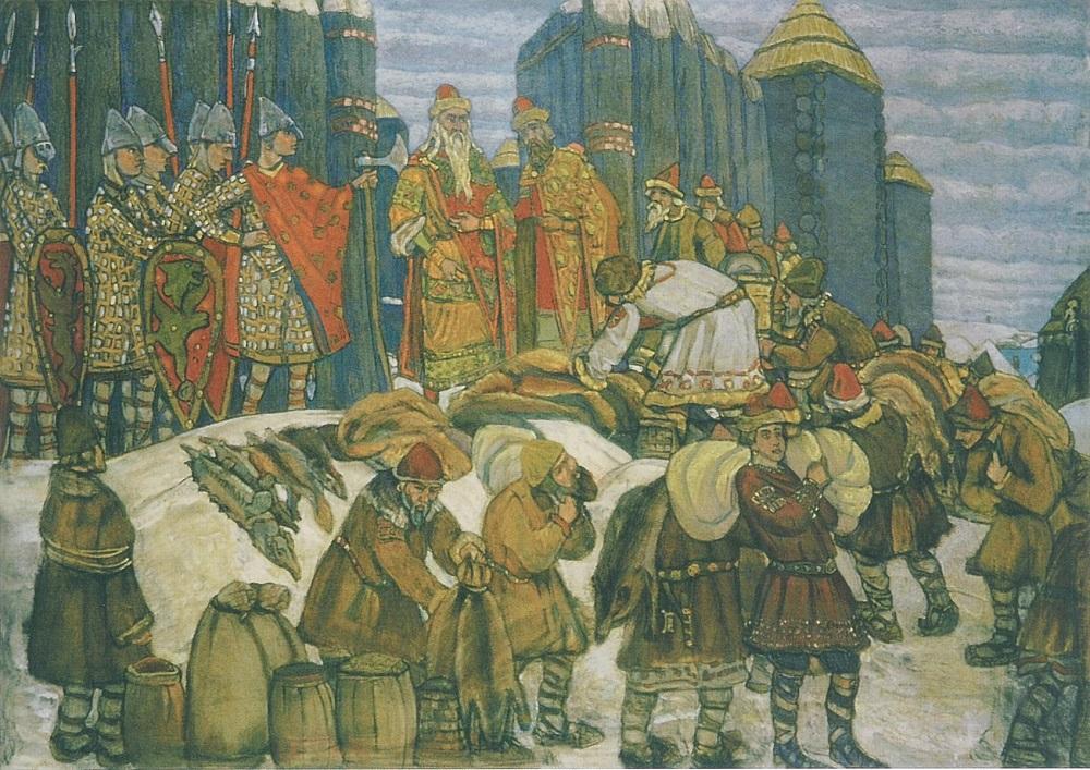 Собирают дань Николай Рерих, 1908