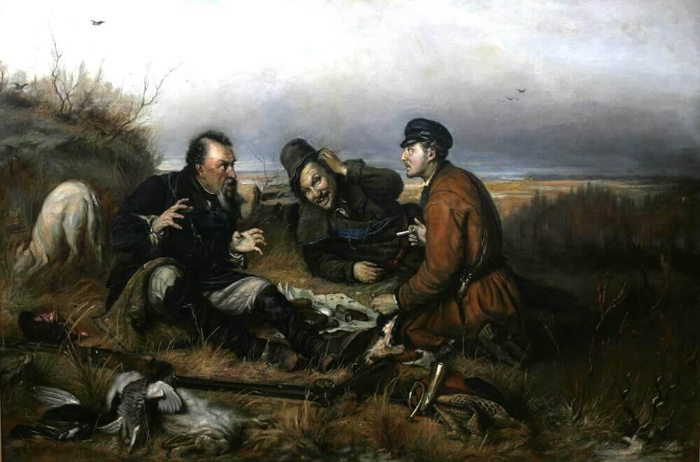 Василий Перов «Охотники на привале», Музей имени Верещагина