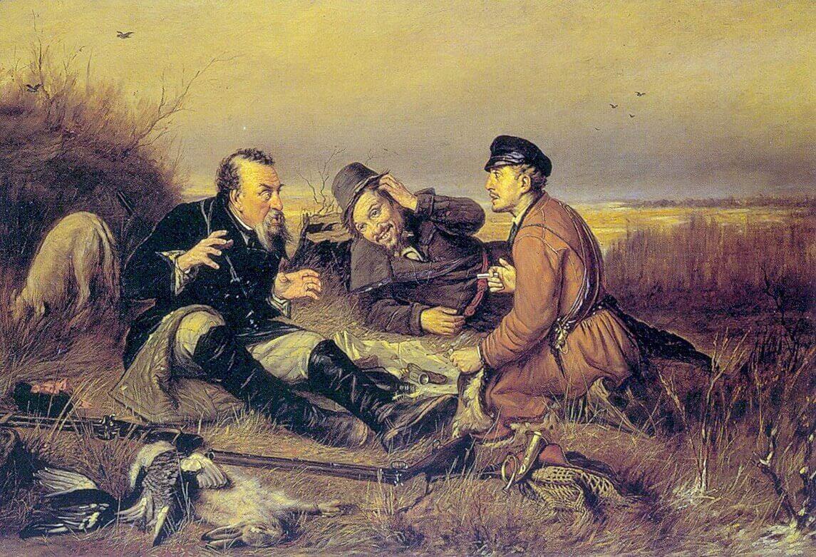 Василий Перов «Охотники на привале», Русский музей