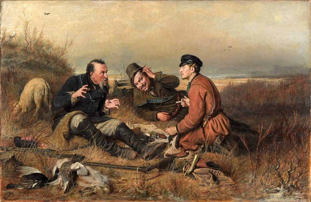 Василий Перов «Охотники на привале», Третьяковская галерея