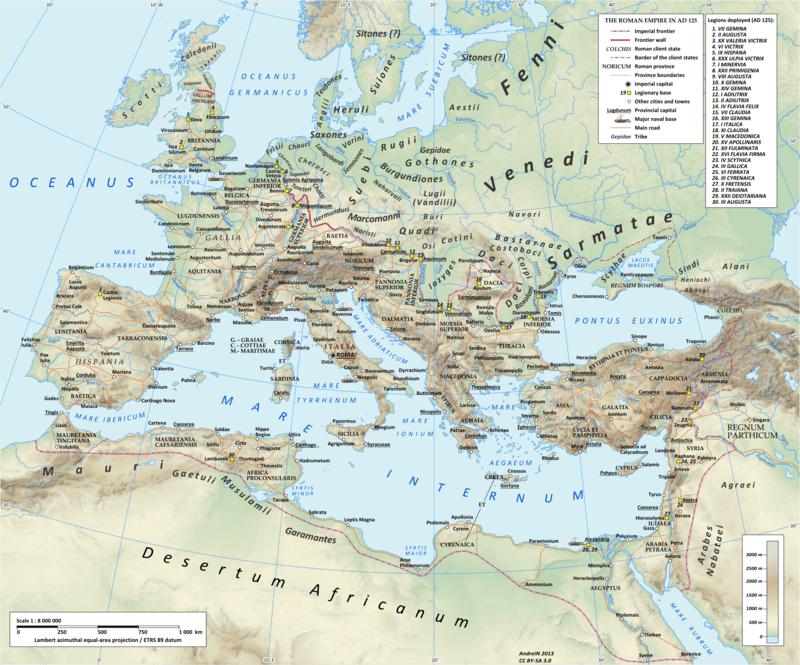 Восточные венеты (Venedi) в 125 году
