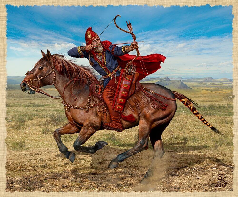 Знатный скифский воин Южная Сибирь VII - VI век до н.э.