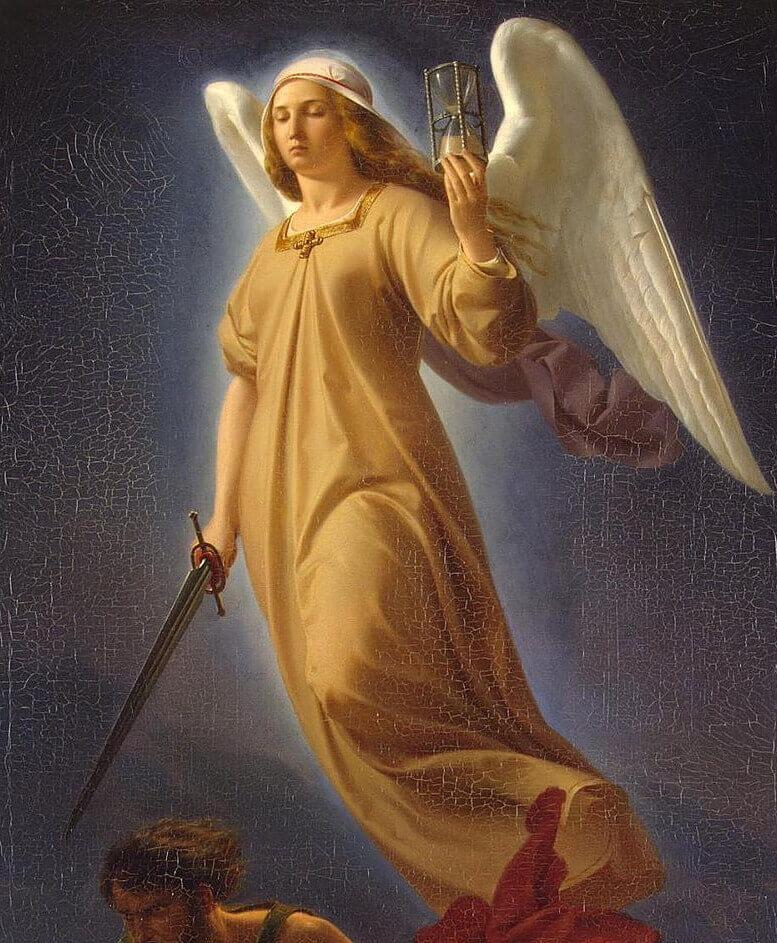 Альфред Ретель «Немезис, богиня возмездия»