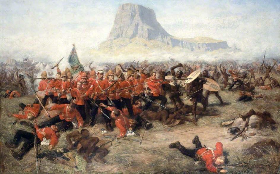 Битва при Исандлване (1879) Наталь, Южная Африка Чарльз Эдвин Фрипп Национальный музей армии