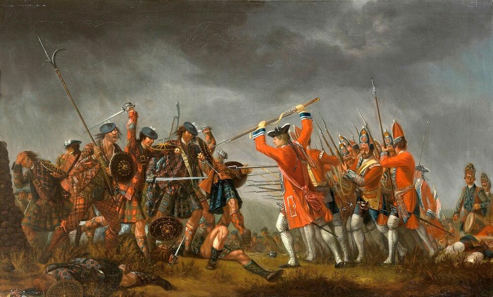 Битва при Куллодене, холст, масло, Дэвид Морье, 1746.