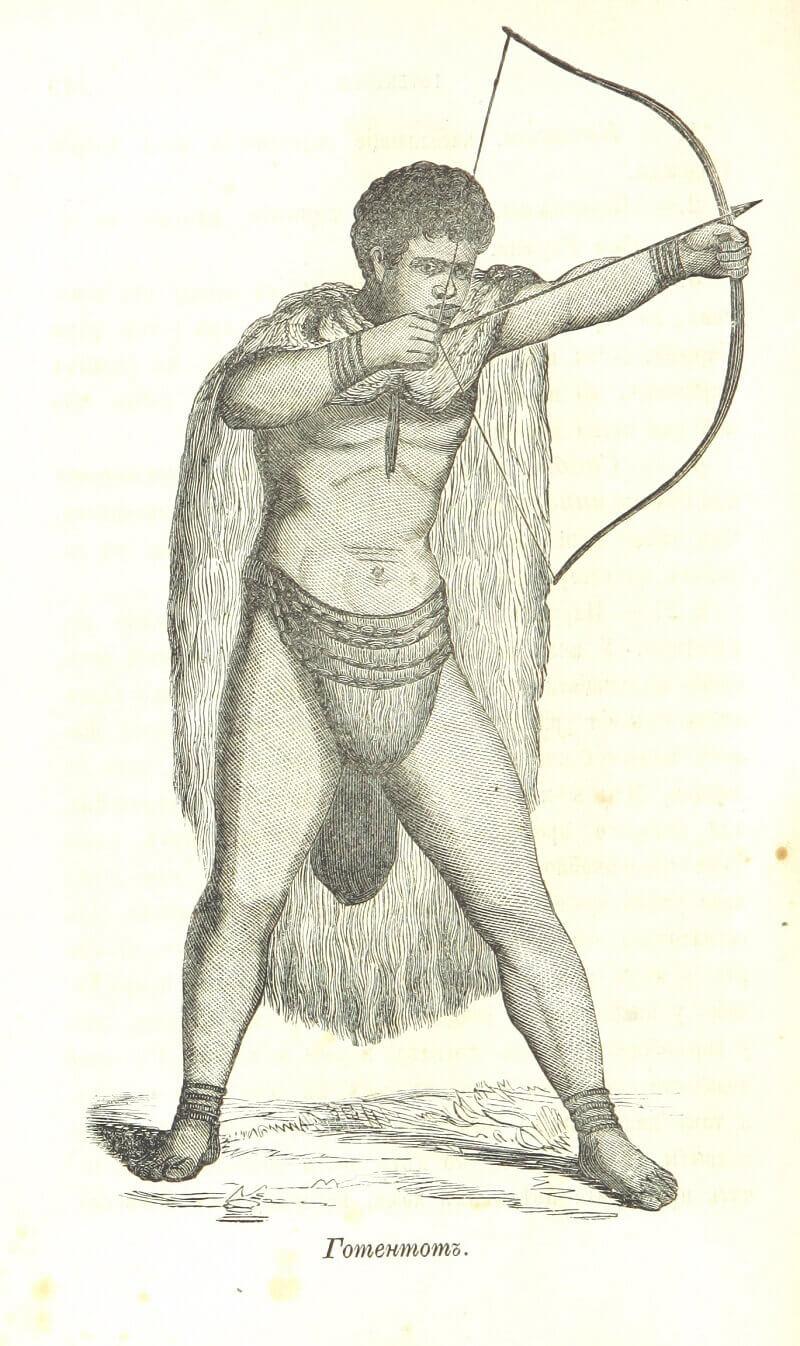 мужчина из народа готтентоты