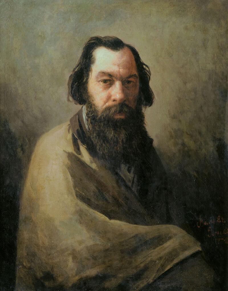 Иосиф Петрович Волков «Портрет Алексея Кондратьевича Саврасова»