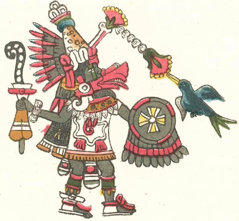 Изображение Кетцалькоатля из кодекса Мальябекиано, XVI в.