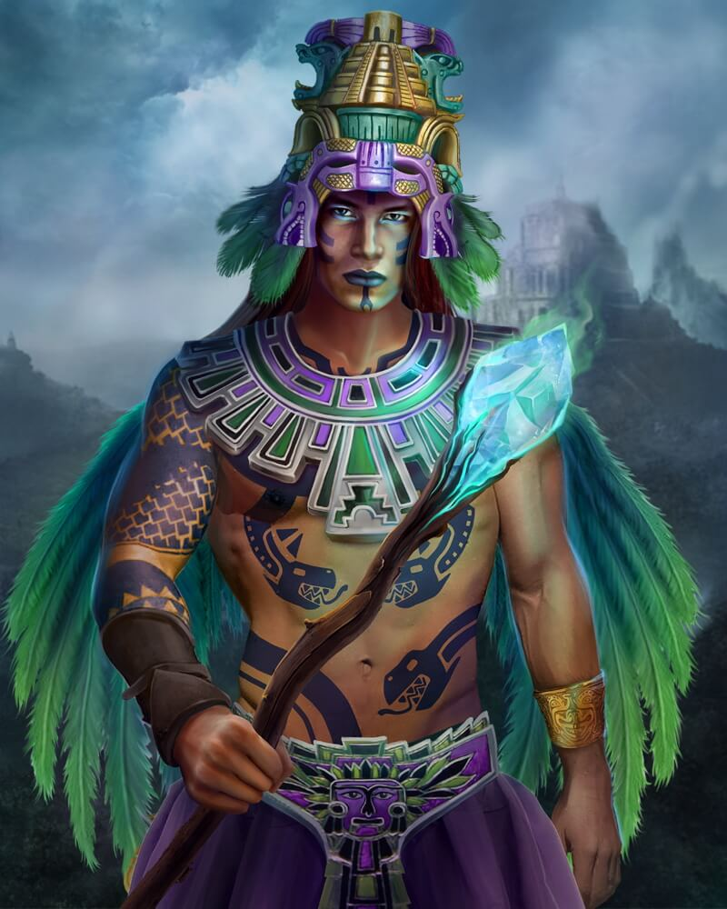Кецалькоатль - ацтекский бог ветра, воздуха и знания.