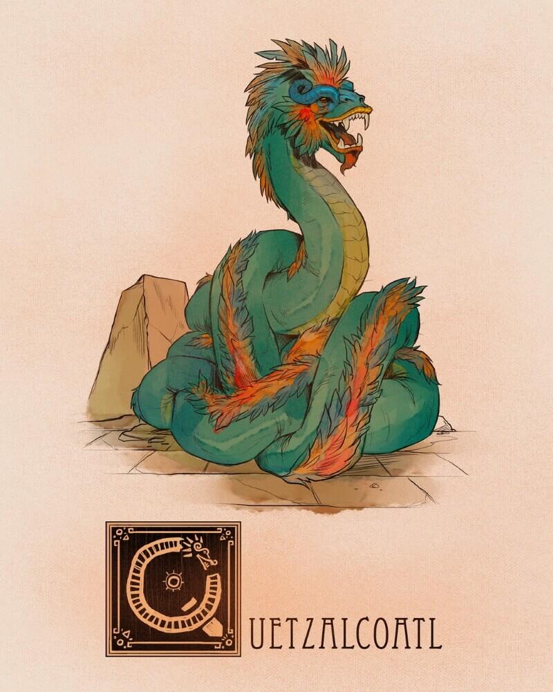 Кетцалькоатль — божество ацтеков