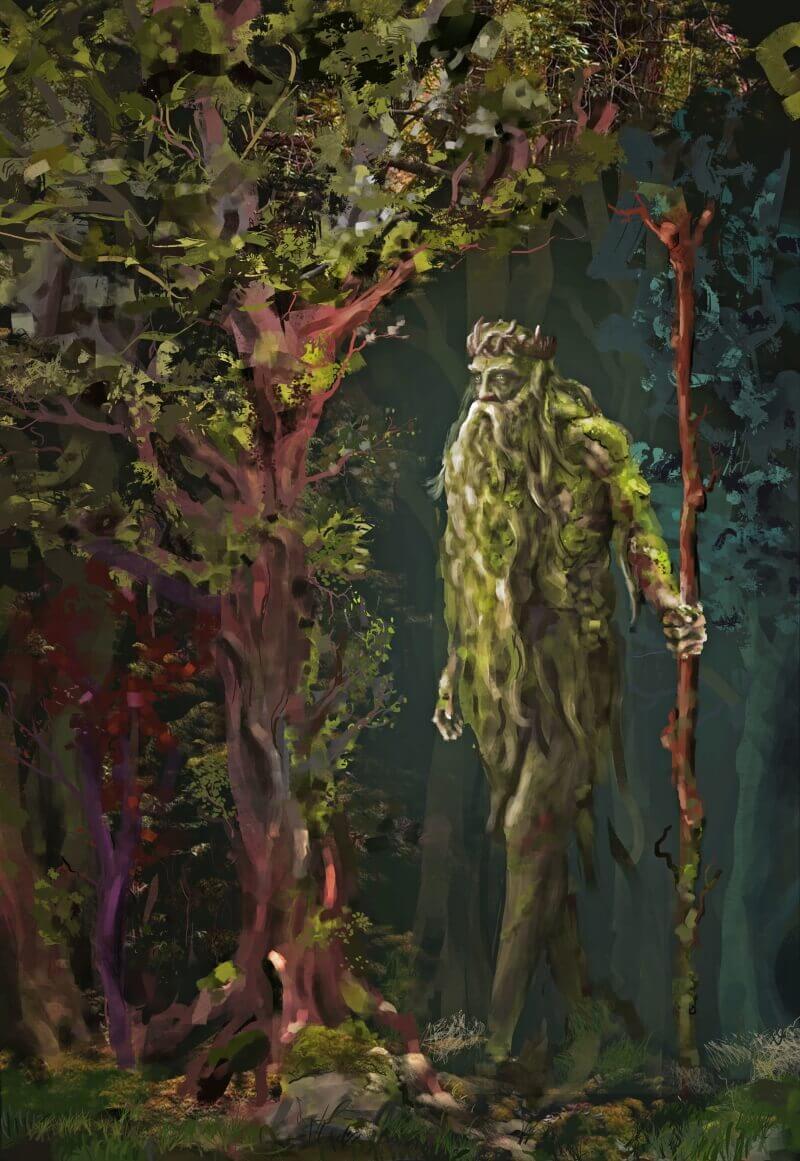 Леший - дух славянских лесов.