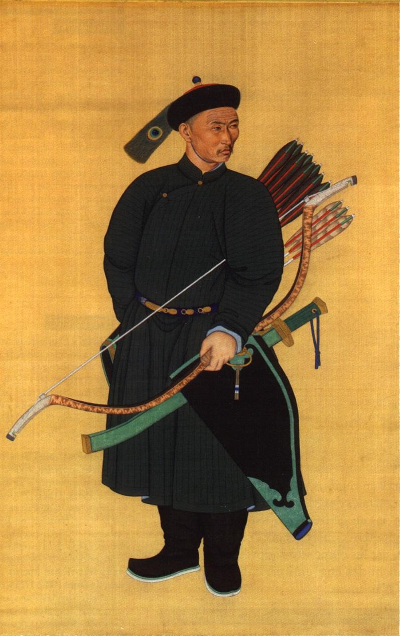 Маньчжур в традиционном наряде
