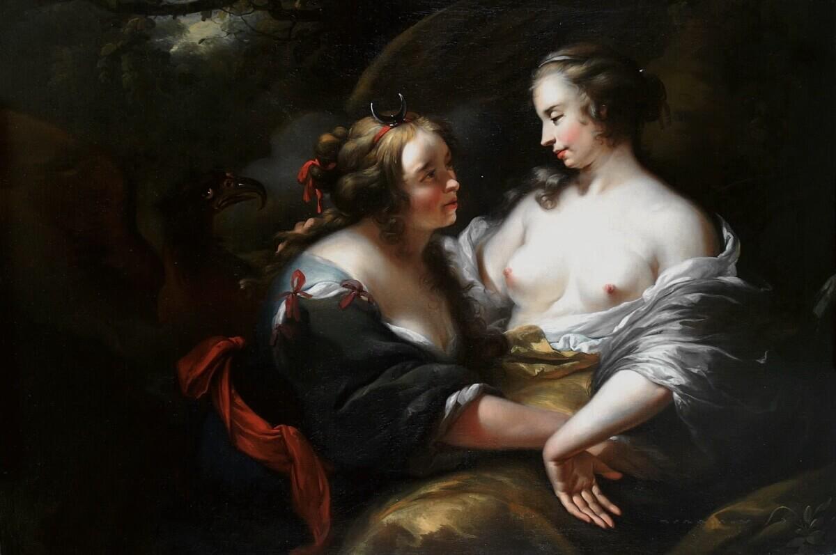 Николас Питерс Берхем – Юпитер в облике Дианы, соблазняющий Каллисто