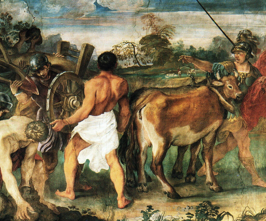 Основание Рима. Фреска Аннибале Карраччи