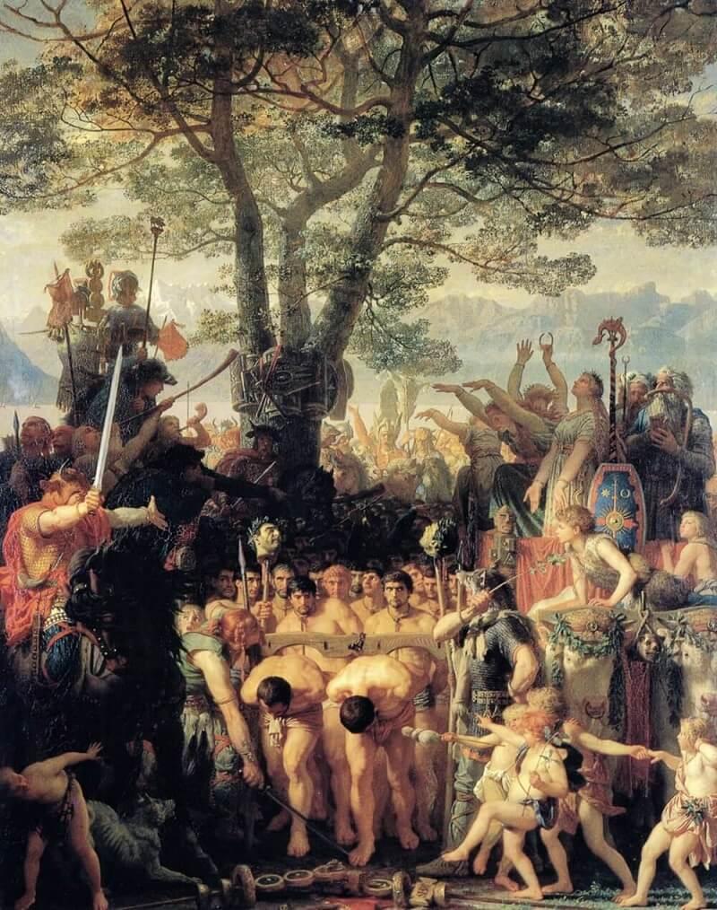 Пленные римские воины под ярмом у германцев. Художник Марк Глейр (XIX век).
