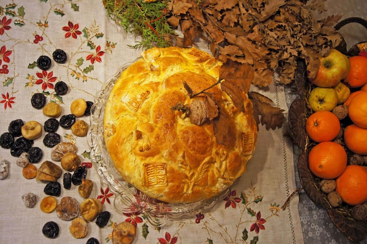 Традиционный рождественский хлеб в Сербии