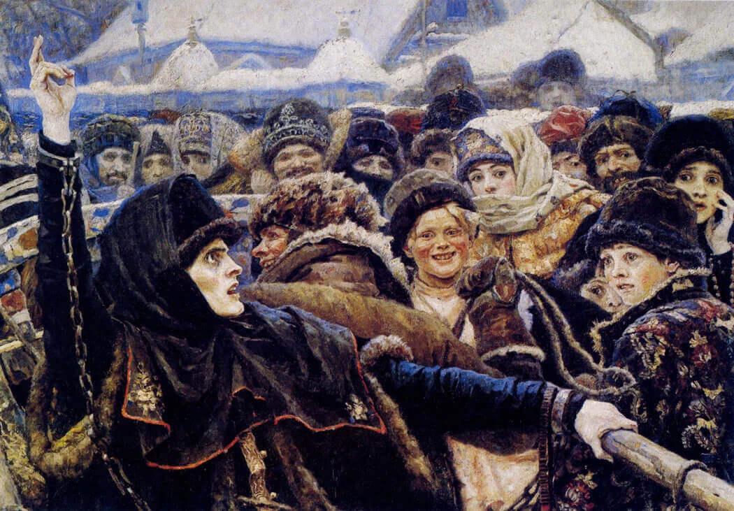 Центральный фрагмент картины «Боярыня Морозова»
