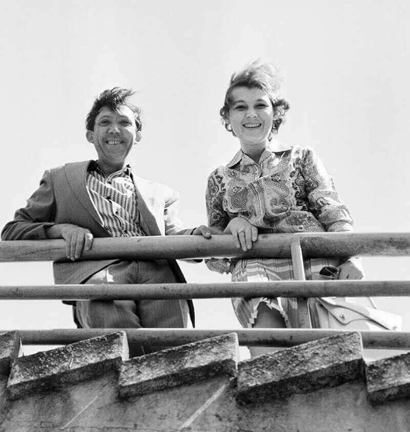 Юрий Никулин с женой, 1963 г.