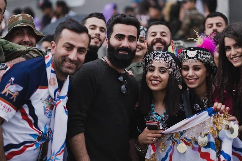 Ассирийцы празднуют Ассирийский Новый год (Акиту)