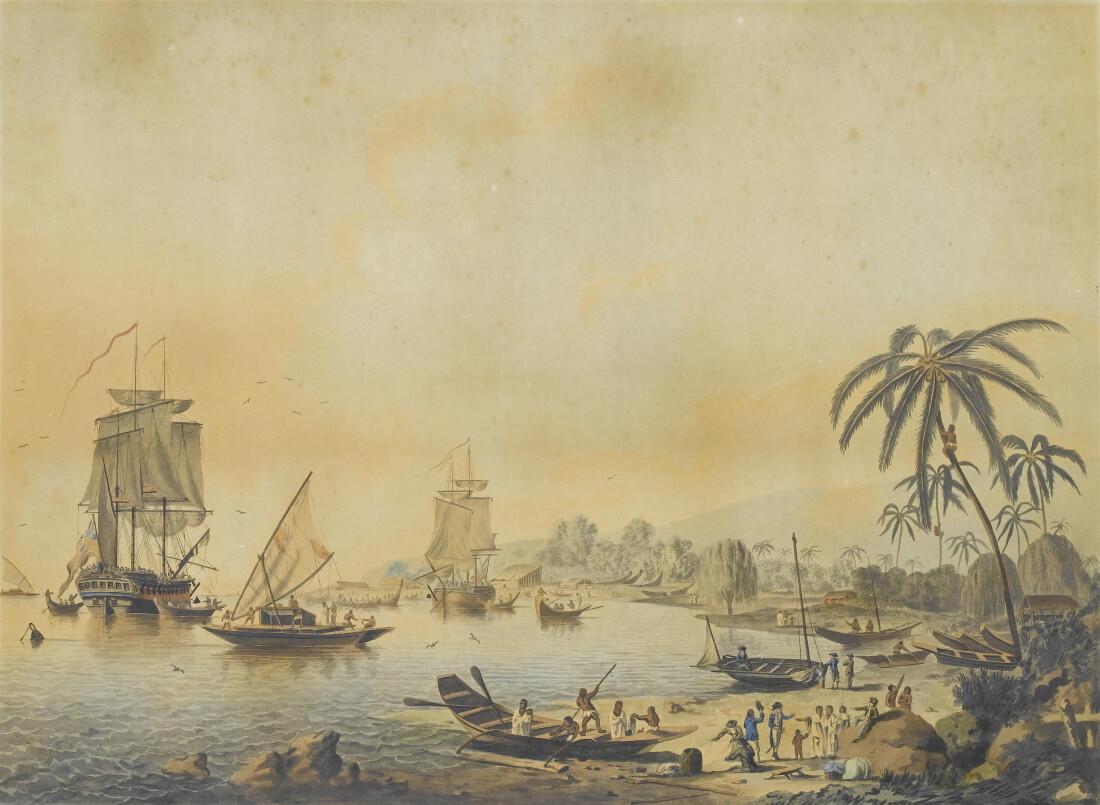 Джон Мартин «Вид на залив Матаваи, Таити», между 1787 и 1788 годами