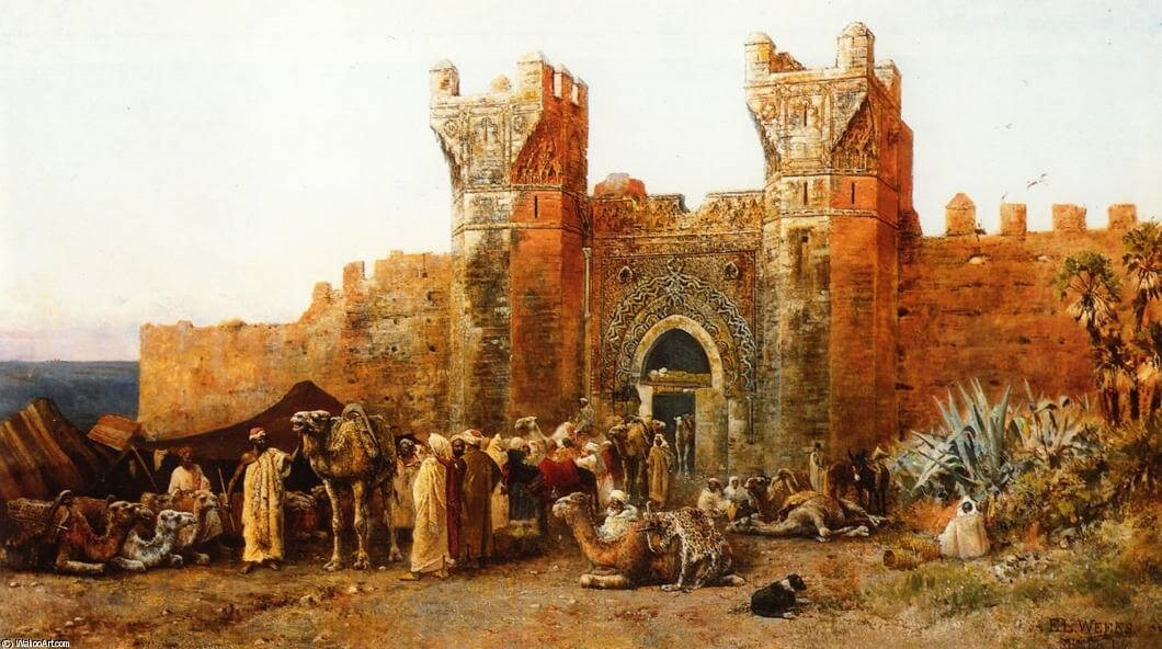 картина «Ворота Shehal,Марокко» 1880 год