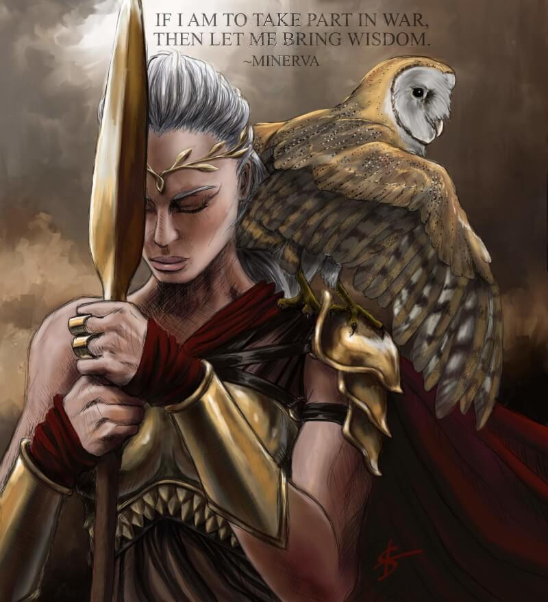 Минерва - мудрейшая богиня Древнего Рима