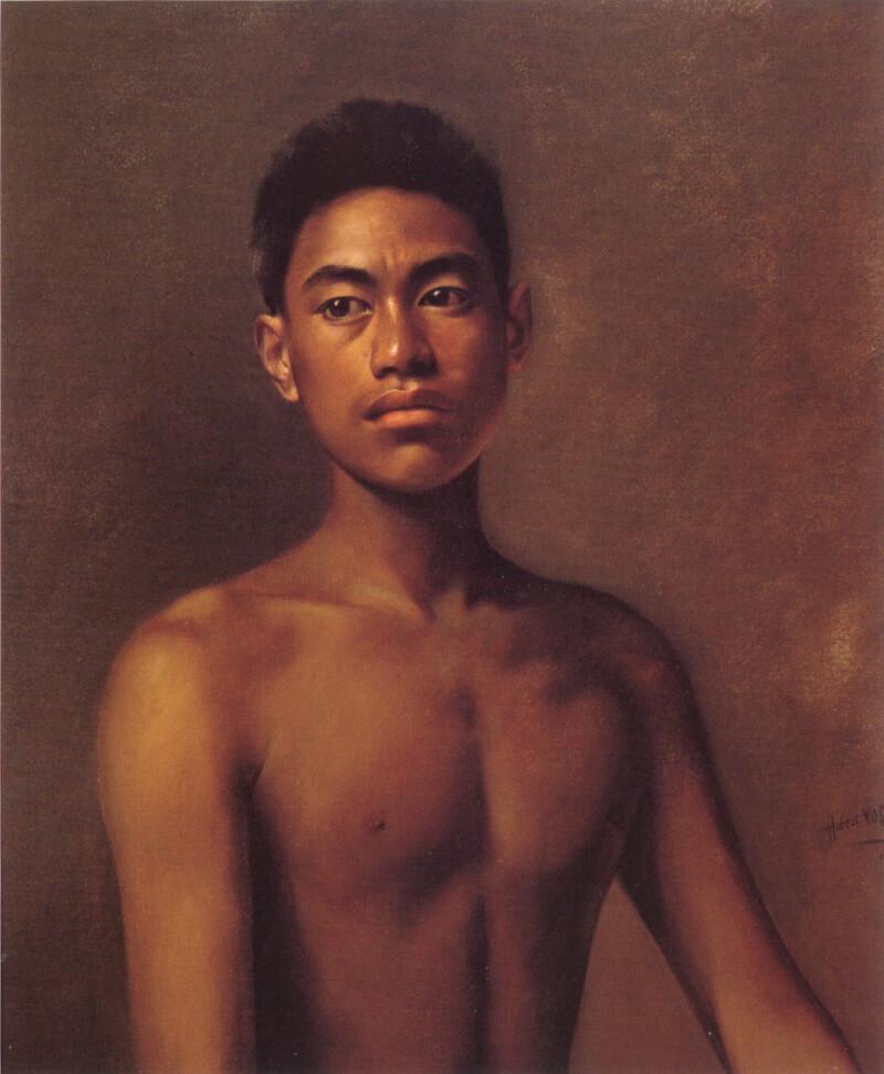 Гербер Вос «Иокепа, гавайский мальчик-рыбак»