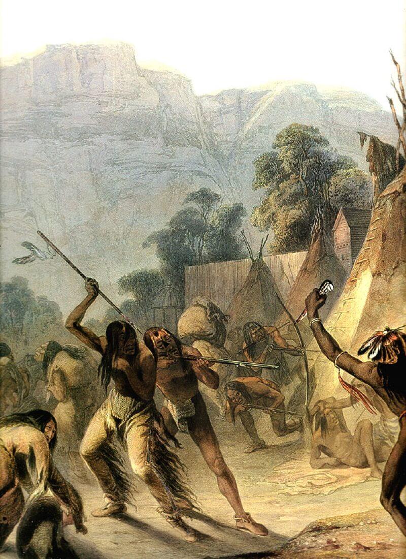 Карл Бодмер – Индейцы племени Миссури, 1832